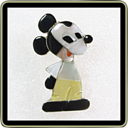 Southwestern Mickey Mouse in Sterling and Stone Inlay