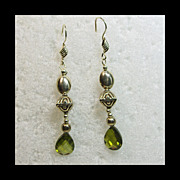Sterling Silver and Pear Shape Cz Earrings