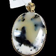 Dendritic Opal Sterling Silver Pendant