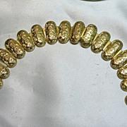 Victorian Flexible Silver Gilt Link Style Bracelet