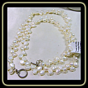 SOLD Baroque Pearl and Sterling Silver Necklace