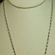 SALE Navajo Sterling Silver Turquoise Pendant on an Handmade Sterling Silver Chain