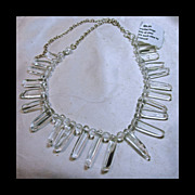 Natural Clear Quartz Crystal Fringe Style Necklace