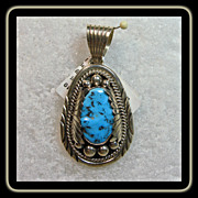 Sterling Silver and Sleeping Beauty Pendant by Mary Ann Spencer