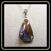 SOLD Australian Boulder Opal Pendant on Sterling Silver Chain