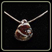 Australian Boulder Opal on Sterling Silver Chain