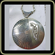 SALE Pendant and Necklace by Ray Morton -Whirling Wind