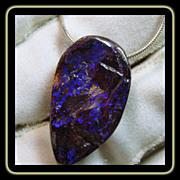 SOLD Yowah Boulder Opal on Sterling Snake Chain