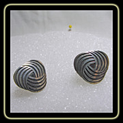 Sterling Silver Taxco Cuff Links