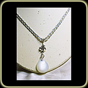 SOLD Sterling Silver Rainbow Moonstone Necklace