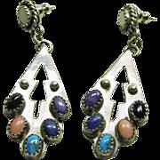Sterling Silver Chandelier Earrings by D. Skeets