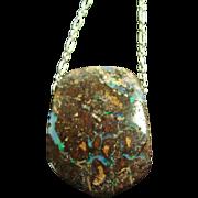 SOLD Australian Boulder Opal on Sterling Silver Chain