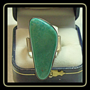 Sterling Silver Ring with Spring Green Turquoise