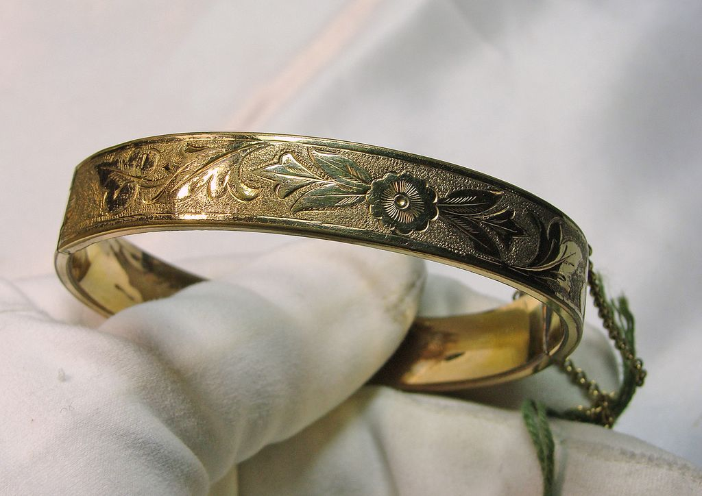Victorian Revival Gold Filled Cuff Bracelet from lantiques on Ruby ...