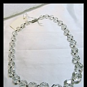 Vintage Strand of Cut Crystal Faceted Beads