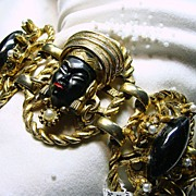1950's Nubian Princess or Blackamoor Bracelet