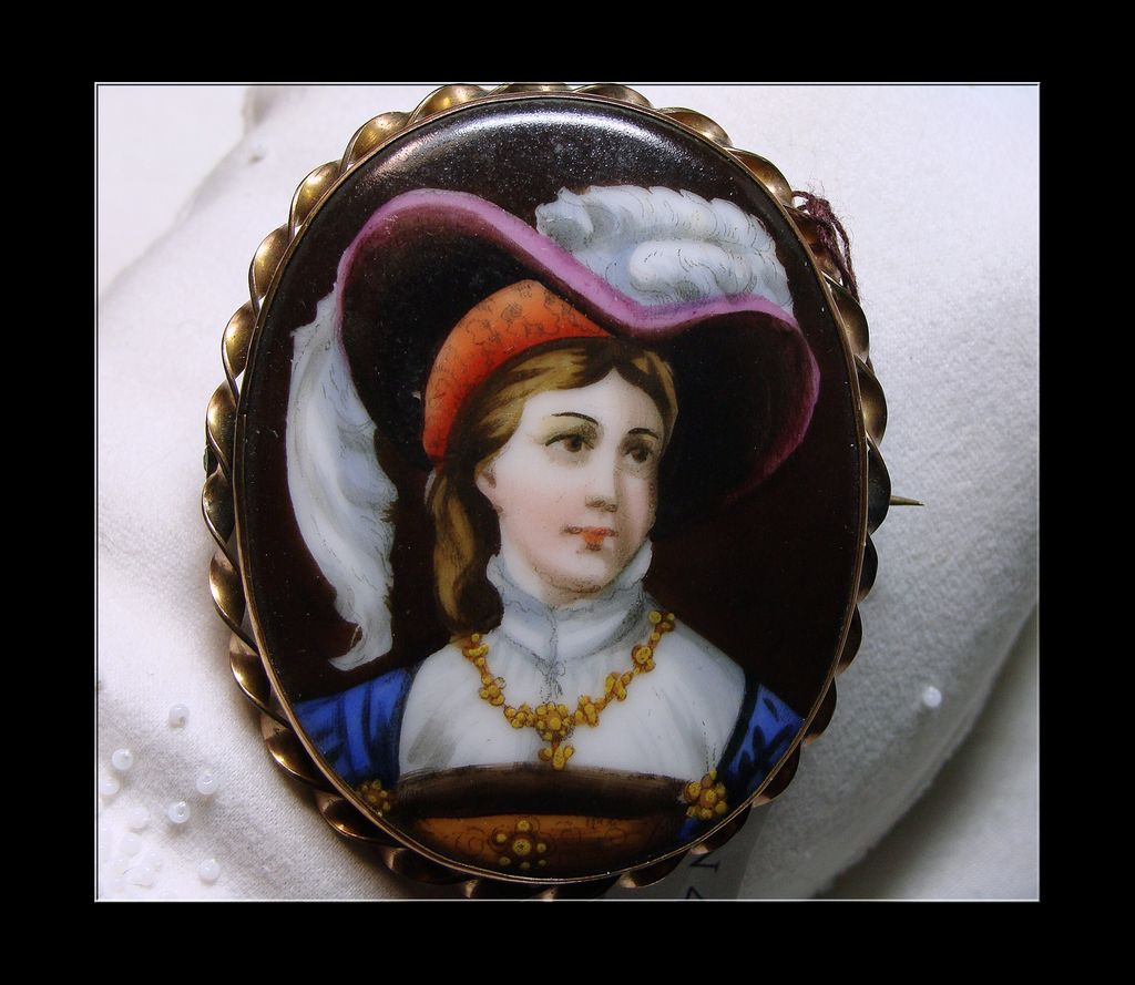 Victorian Hand Painted Portrait Miniature