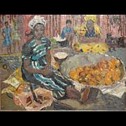 Germaine (Paul) Gauguin Chardon African Black Lady Selling Fruit