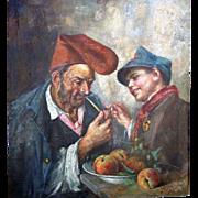 Italian Impressionist Master Oil on Canvas Circa 1900