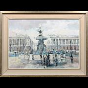 "C. Ranee     Paris School Impressionist ""Place de la Concorde"" Paris"
