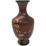 SALE Cloisonne Chinese Vase