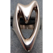 George Jensen Silver Ring # 89 - Henning Koppel Sterling Heart Ring