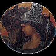 "Arthur Henri LEFORT DES YLOUSES Rare Gypsograph Titled ""Valkrye"""