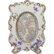 Dresden Hand Painted Floral Porcelain Picture Frame