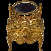 Miniature Dressing Table Jewelry Casket