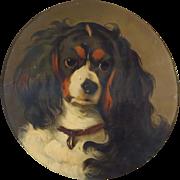 SOLD King Charles Spaniel Dog Portrait