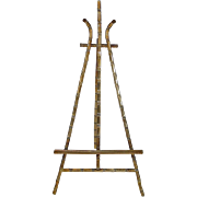 Miniature Doll House Brass Faux Bamboo Easel
