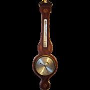 Early 19th Century English Mahogany Wheel Banjo Barometer
