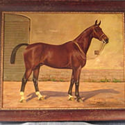SOLD Oil Painting Race Horse by Wilhelm Westerop