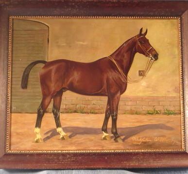 Oil Painting Race Horse by Wilhelm Westerop