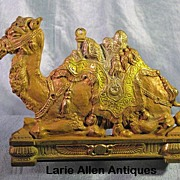 SOLD Judd Cast Iron Polychrome Camel Expandable Bookends
