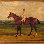 SOLD 19th Century Oil Horse and Jockey