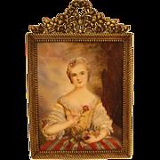 19th century Portrait Miniature Madame Pompadour