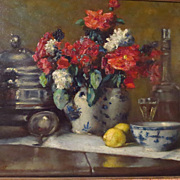 SOLD Ferdinand Willaert Still Life Oil Painting