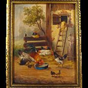 19th Century French School Farmyard Scene