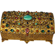 SOLD On Hold R.  Antique Jeweled Ormolu Austrian Casket Box