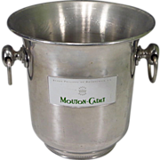 Vintage French Champagne Bucket Ice Cooler Mouton Cadet