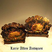 Pair Antique French Tole Letter Holders