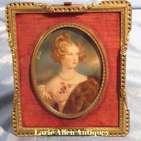 Portrait Miniature Beautiful Lady