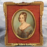 SOLD Portrait Miniature Lady