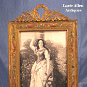 SOLD Art Nouveau French Bronze Champleve Enamel Picture Frame