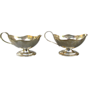 Antique English Sterling Silver Miniature Creamers - Birmingham 1906