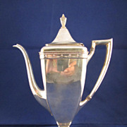 Antique Original 1847 Rogers Bros. Silverplated Coffee Pot and Open Sugar