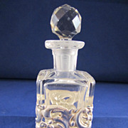 Antique English Sterling Silver and Glass Perfume Bottle - Chester 1905