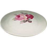 """Vintage Plate with Roses """"Z. S. & Co."""" Bavaria"""