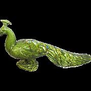 SALE DeForest Pottery Peacock, Vintage